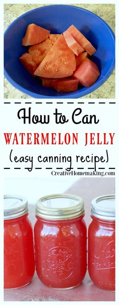 This watermelon jelly is very easy to make and has a wonderfully light melon flavor. Learn how to can homemade jelly like a pro.