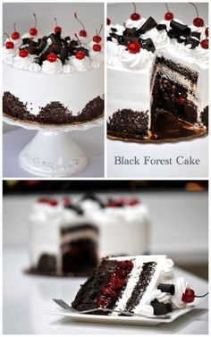 Yes to tiered black forest cake! Who says wedding cake has to be yellow?