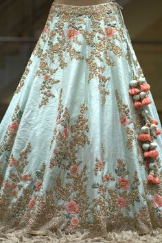 Buy Mint Green Zardosi Embroidered Raw Silk Bridal Lehenga Online WhatsApp us for Purchase & Inquiry : Bridal Lehenga Online, Designer Bridal Lehenga, Indian Bridal Lehenga, Indian Bridal Outfits, Indian Designer Outfits, Pakistani Bridal Dresses, Shadi Dresses, Lehenga Wedding, Indian Dresses