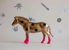 polka dot zebra//golden//the strange planet by thegoodmachinery