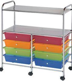 Storage Cart with 8 Drawers-Multi 31.74''x14.75''x35'' & Storage Drawers & Carts at Joann.com