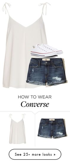 """""""rtd """" by laurenatria11 on Polyvore featuring Hollister Co. and Converse"""