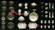 De! Lotes de 40 PCS rosa chá jogo de jantar porcelana prato de ~ 1/12 escala Dollhouse Miniature móveis em Móveis de brinquedo de Brinquedos & Lazer no AliExpress.com   Alibaba Group