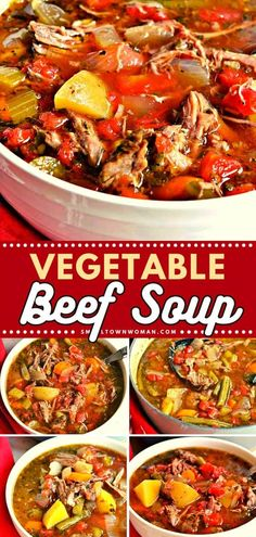 Hearty Soup Recipes, Healthy Beef Recipes, Slow Cooker Recipes, Cooking Recipes, Crockpot Recipes, Soup And Sandwich, Beef Dishes, Soups And Stews, Fresh Vegetables