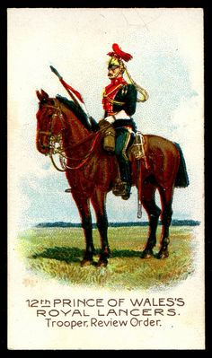 Cigarette Card - 12th Prince of Wales's Royal Lancers