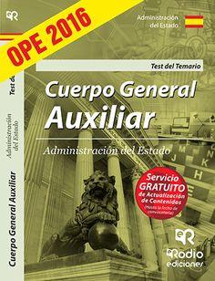 9788416745104 Cuerpo General Auxiliar de la Administración del Estado. Test del Temario.