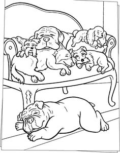 I Have Download Sleeping Slumbering Dog Coloring Page