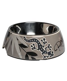 The Rogz Bubble Bowl (Silver Gecko) is the classic option in melamine and stainless steel.