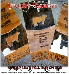 Leather Trophy Banners from www.farmsteadgallery.ca