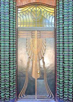 Peter Behrens - 1901 - Art Nouveau door  Behrens house - Darmstadt Artists' Colony in Mathildenhöhe - Photo by Arnim Schulz - http://www.flickr.com/photos/arnimschulz/2050860720/in/set-72157603251499243/