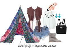 BurdaStyle Tipi & Finged Leather Waistcoat