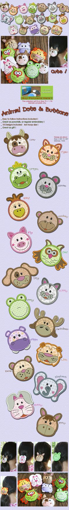 ANIMAL DOTS AND BUTTONS Embroidery Designs Free Embroidery Design Patterns Applique