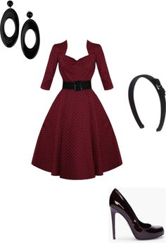 """Beautiful in red and black"" by kelsy-flanders on Polyvore"