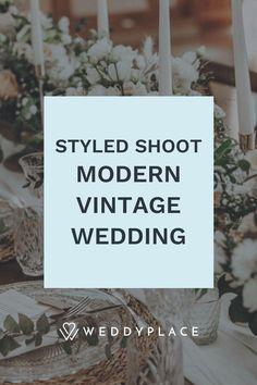 Kann man eine Vintage Hochzeit mit modernen Elementen verbinden? Schaut es Euch hier an! #Hochzeit #StyledShoot #Vintage #Modern #Rustikal Modern Vintage Weddings, Vintage Modern, Vintage Stil, Inspiration, Decor, Paper Mill, Thanks Card, Place Cards, Newlyweds