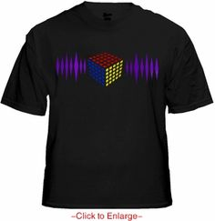 Magic Cube 3D Equalizer Rave T-Shirt With Sound Sensor. Price $24.99