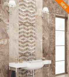Bathroom Ideas Mosaic ceramic bathroom tiles | kajaria tiles- bathroom decor ideas
