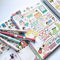 I added diary stickers to half of my page this week (in my Erin Condren Life Planner) and I love how it looks finished now. This diary sticker set has six sheets in different designs, oh so fun to use. #ecplanner #ecadventure #eclp #erincondren #lifeplanner  #planner #plannergirl #plannerlove #plannernerd #plannerstuff #planneraddict #plannerjunkie # #filofax #filofaxgoodies #kikkik #kikkikplannnerlove #stationery #stationeryaddict #stickynotes #kawaii #cutestationery #cutepens…