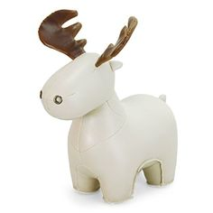 Zuny Moose Animal Bookend (Rudo) – Off White (Wheat)