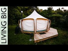 Escaping the Rent Trap - Simple Living In A Lotus Belle Tent - YouTube