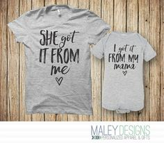 Matching Mother Daughter Outfits Mom and Baby by MaleyDesigns