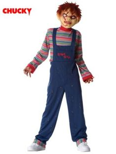Opentip.com: FRANCOAMERICAN NOVELTY FR49715 Boy's Licensed Chucky Mask and Costume