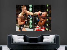 Conor mcgregor Ufc kickboxing sport fighting Poster Print Art Wall Picture Giant…