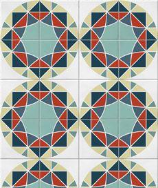 adesivo decorativo de parede: azulejo mosaico