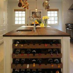 Kitchen Island Wine Rack