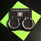 Anne Klein Gold Tone  Black Hoops - New! Pierced Earrings - amp, Anne, Black, Earrings., Gold, HOOPS, Klein, Pierced, tone - http://designerjewelrygalleria.com/anne-klein-jewelry/anne-klein-earrings/anne-klein-gold-tone-black-hoops-new-pierced-earrings/