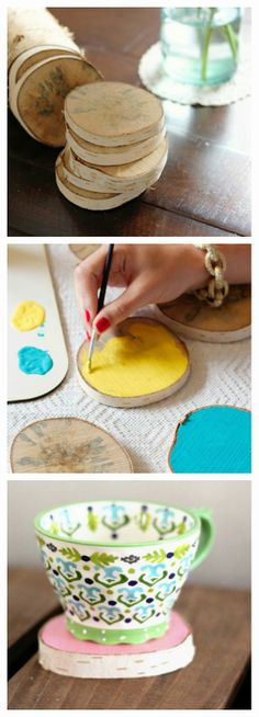 Easy DIY: Wood Round Coasters