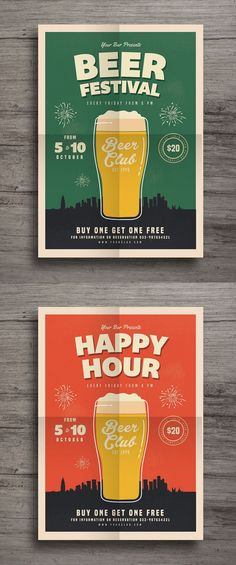 Happy Hour Beer Festival Flyer Template AI, PSD More - Graphic Templates Search Engine Festival Flyer, Beer Festival, Menu Flyer, Party Flyer, Promo Pizza, Happy Hour, Beer Birthday Party, Beer Tasting Parties, Restaurant Poster