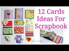 How to make Scrapbook Pages/ 12 Birthday Card Ideas/ DIY Birthday Scrapbook Part Two - Bing video Simple Birthday Cards, Handmade Birthday Cards, Happy Birthday Cards, Birthday Greeting Cards, Greeting Cards Handmade, Card Birthday, How To Make Scrapbook, Scrapbook Cards, Scrapbooking
