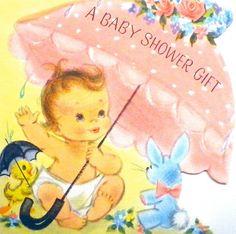 https://flic.kr/p/dL9EJo | Vintage Baby Shower Card - 1958