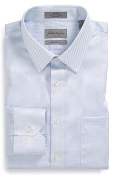 Free shipping and returns on John W. Nordstrom® Traditional Fit Dress Shirt at Nordstrom.com. A diamond pattern with subtle sheen adds visual texture to a versatile dress shirt fitted with a measured spread collar and rounded, single-button cuffs.