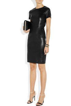 THE ROW Wonlo paneled stretch-leather dress