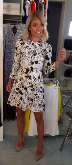 Kelly Ripa in an A.L.C dress from Intermix.