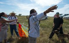 Protesters were threatened by security guards and guard dogs, at the work site for the Dakota Access Pipeline.