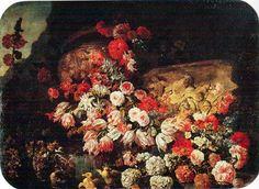 paolo porpora Flower Art, Still Life, Den, Symbols, Fine Art, Painting, Art Floral, Painting Art, Paintings