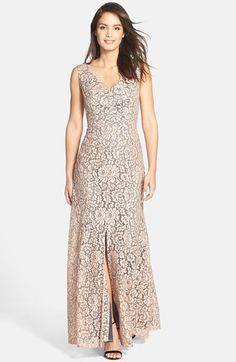 Eliza J Sleeveless Lace Gown available at #Nordstrom