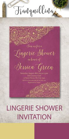 973b235946ff3 Lingerie Shower Invitation Printable