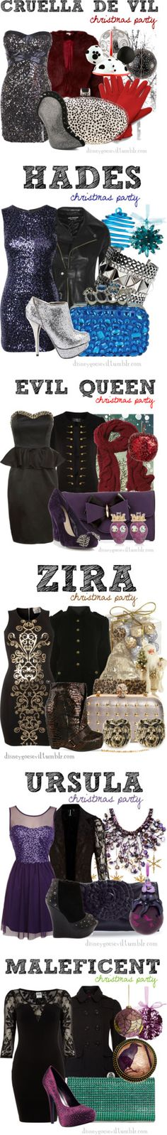 """Christmas Party"" by disney-villains ❤ liked on Polyvore"