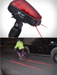 Xfire BikeLane Laser Bicycle Rear Safety Lamp LED Light  자전거 안전등의 최고봉