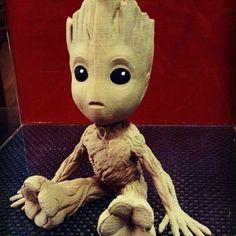 Baby Groot. Wood Statue . 3D Print