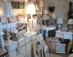 Lovely shabby chic display