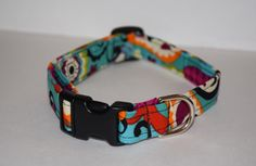 Turquoise Dog Collar Summer Dog Collar Turquoise by PawesomePups