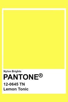 Lemon Tonic #Pantone Pantone Color Chart, Pantone Colour Palettes, Pantone Swatches, Color Swatches, Color Limon, Paleta Pantone, Flat Color Palette, Yellow Pantone, Pantone 2020