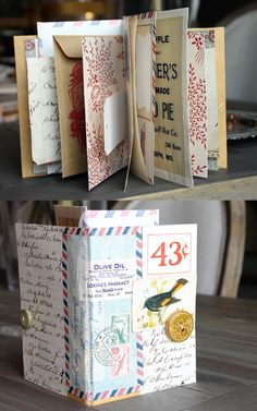 diy how to build a Mercantile Vintage Mini Album from Paper Lust:blog