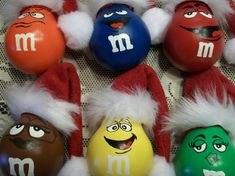 M&M Handpainted Lightbulb Ornies Set of 6 Characters by tigereyes