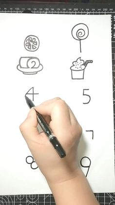Art Discover How to draw pictures using numbers 1 to 10 Art Drawings Sketches Simple, Easy Drawings For Kids, Pencil Art Drawings, Drawing For Kids, Cute Drawings, Art For Kids, Easy Doodles Drawings, Word Drawings, Drawing Pin