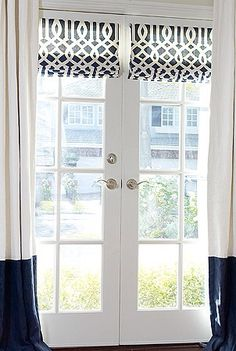 Charming Shades For French Doors